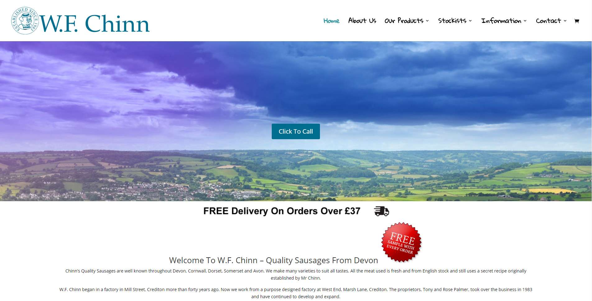 WF Chinn - Edworthy Media Portfolio - Quality Website Design In Exeter and Crediton